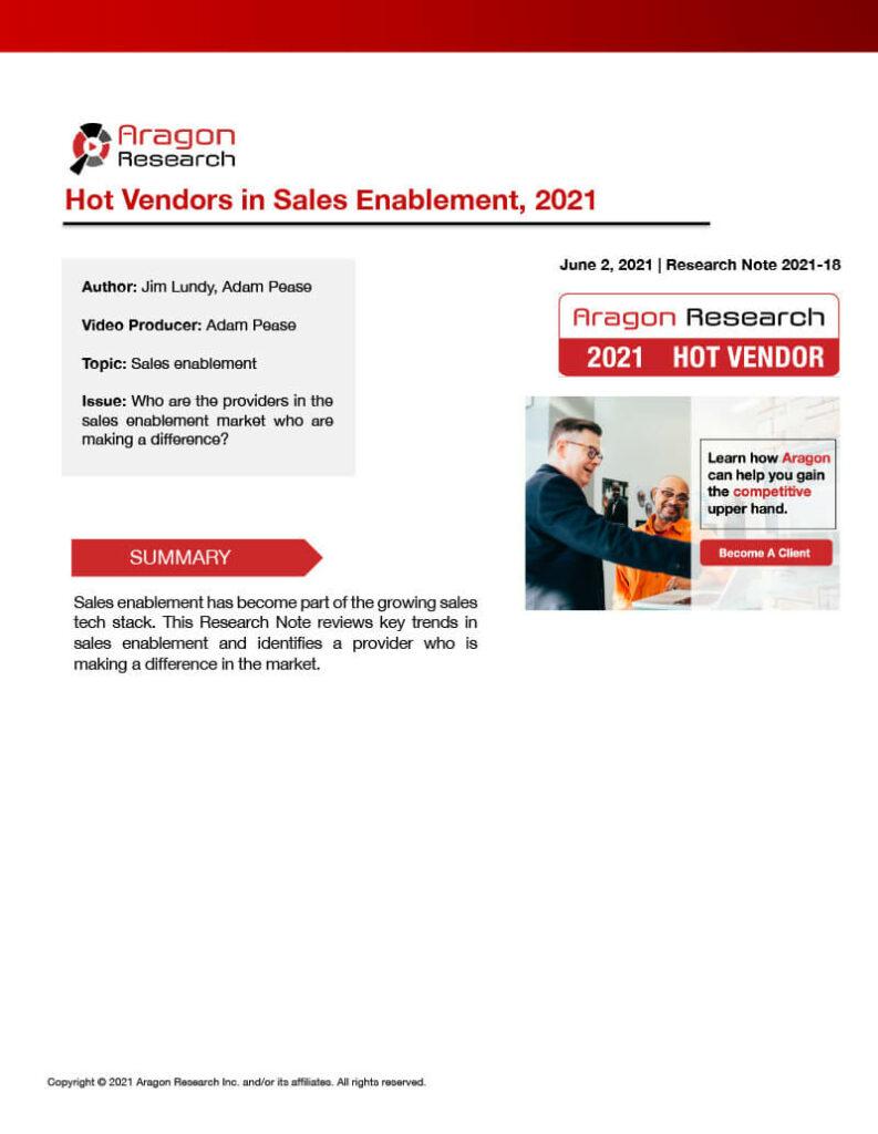 Aragon Research Hot Vendor Report Thumbnail